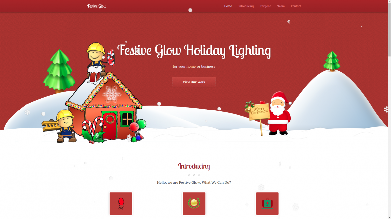 Festive Glow Holiday Lighting