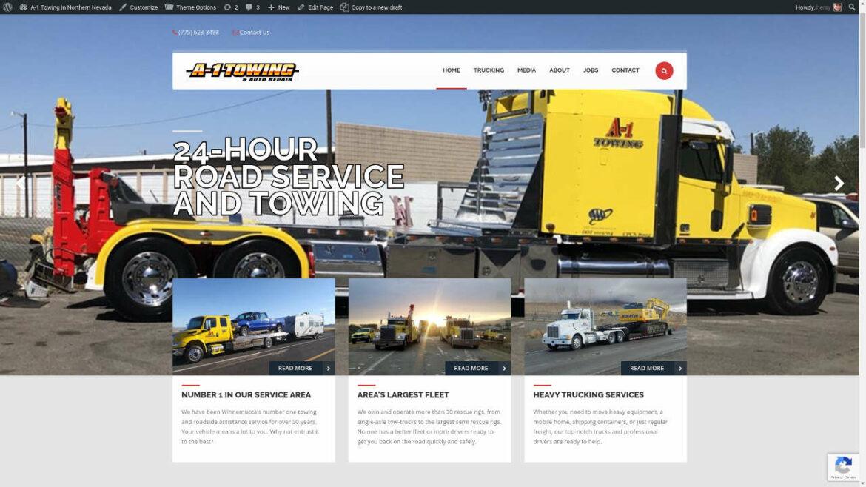 A-1 Towing Website Screenshot